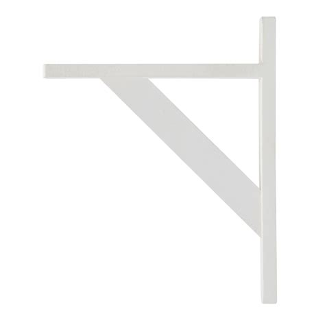 White Wooden Shelf Brackets B Q Brackets White Matt Wood Shelf Bracket D 250mm