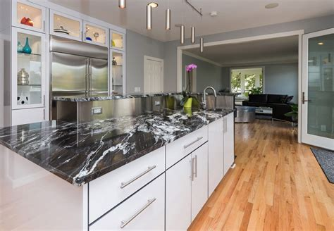 granite marble natural stone kitchen cabinet cupboard door silver waves granite kitchen traditional with designed by