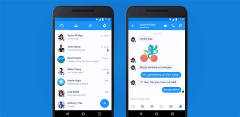 design news app android messenger on android joins the rush to material design