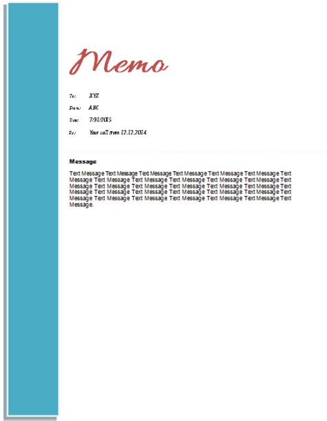 Memo Template Design Memo Template Templates For Microsoft 174 Word