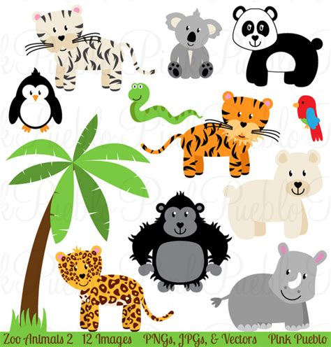 zoo animal clipart zoo jungle animals clipart vectors illustrations on