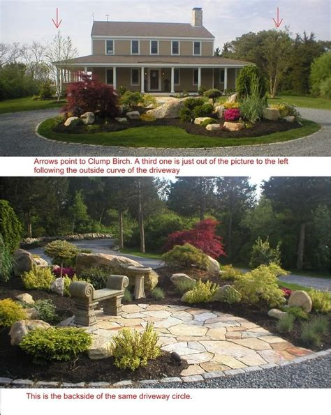 image detail for circular driveway landscaping landscape design ideas for small front