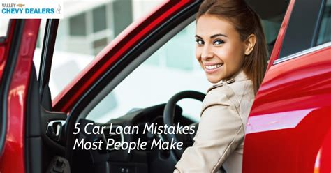 Financing 10 Mistakes That Most Make by 5 Errores De Pr 233 Stamo De Coche Que Hace La Mayor 237 A De Las