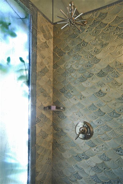 fish tiles bathroom fishscale bathroom traditional bathroom dc metro