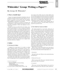 how to write a paper whitesides 1000 images about research paper on research