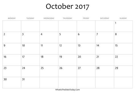 editable november 2017 calendar word pdf monthly blank october calendar 2017 editable whatisthedatetoday com