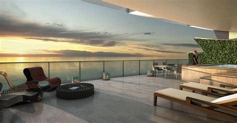 echo aventura luxury condos oceanfront terrace new build homes