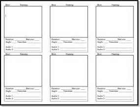 photography storyboard templates blank storyboard