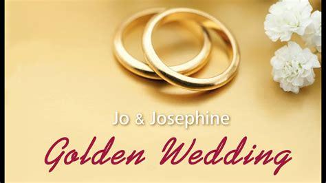 50 yr wedding anniversary golden wedding song 50th wedding anniversary song waltz