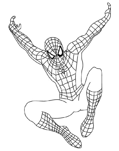 spider man 2 colouring pages