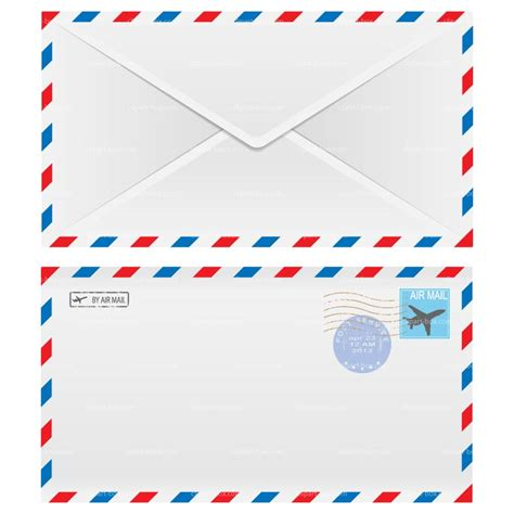airmail envelope printable airmail envelope clipart clipground