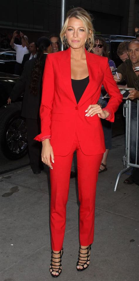 blake lively red suit red red red   fashion
