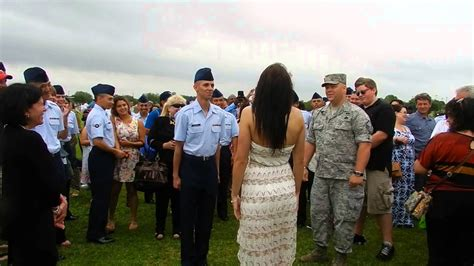 what is after basic training in air force air force bmt graduation marriage proposal hi res youtube