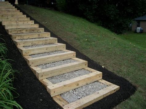 landscaping stairs 15 unique landscaping timber projects and ideas planted well