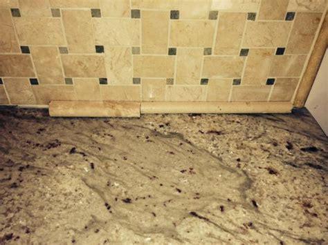 Granite Countertop Filler by Gap Between Marble Backsplash And Granite Counters
