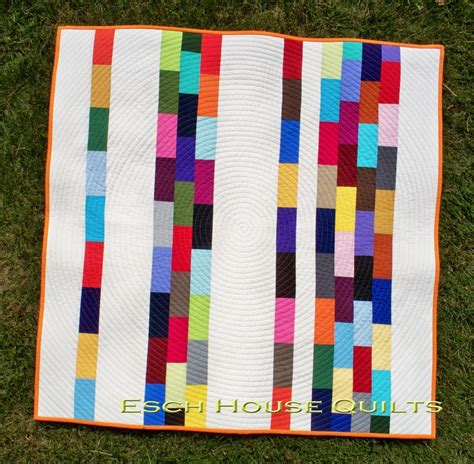 American Notebook Scrapbuster Strip Quilt   FaveQuilts.com