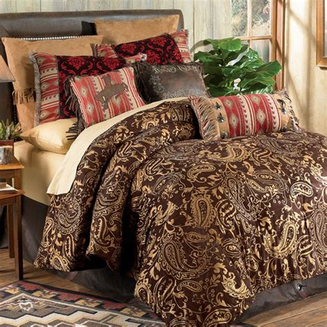 red damask comforter bandera western bedding collection adobe and chocolate