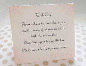 wish card sign baby shower wish by piccadillystation