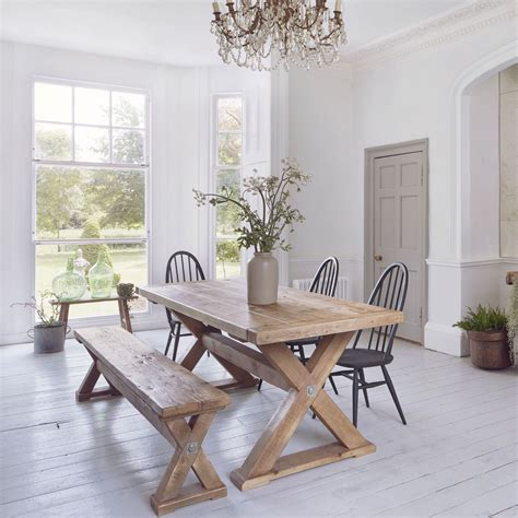 reclaimed trestle dining table reclaimed wood plank trestle dining table home barn vintage