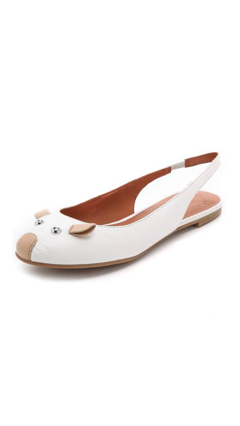 Marc By Marc Denim Slingbacks by Lyst Marc By Marc Slingback Mouse Flats In