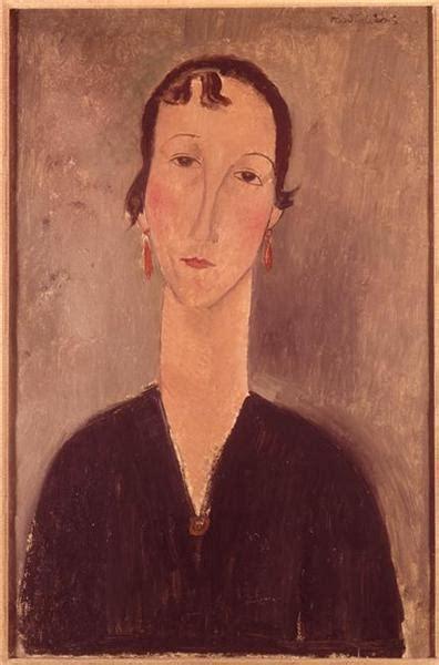 modigliani woman with a woman with earrings c 1917 amedeo modigliani wikiart org