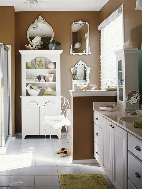 brown bathroom walls baths with stylish color combinations cabinets mocha