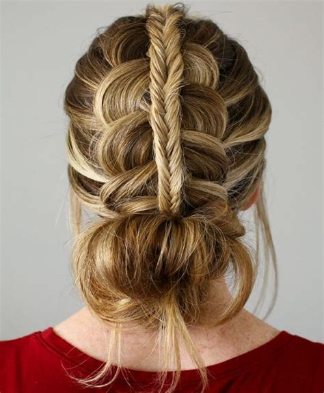 tie back hairstyles dutch fishtail braid tie back hairstyle 2016 hair style