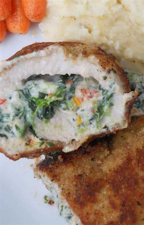 Fast Easy Dinner Chops With Tomatoes by Crispy Stuffed Pork Chops With Spinach And Sun Dried