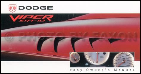 books about how cars work 2005 dodge viper navigation system 2005 dodge viper srt 10 owners manual original new owner guide book oem srt10 ebay