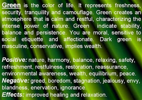 green color meaning meaning of colors psychology of color personality