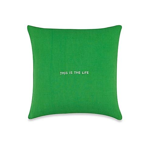 green throw pillows for bed kate spade new york quot this is the quot throw pillow in
