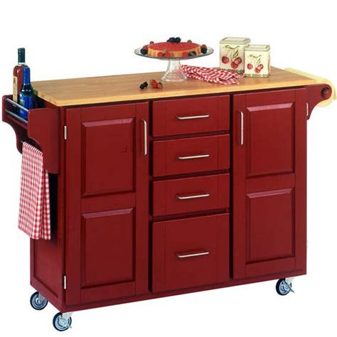 red kitchen island cart kitchen carts kitchen islands work tables and butcher