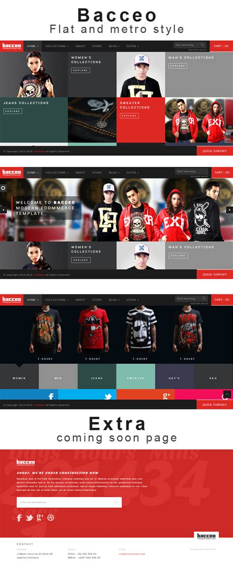 html slidy themes bacceo metro style ecommerce template null themes