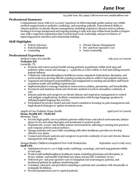sle resume for pediatric nurse er triage nurse resume