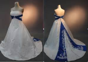 royal blue and white wedding dresses pictures ideas