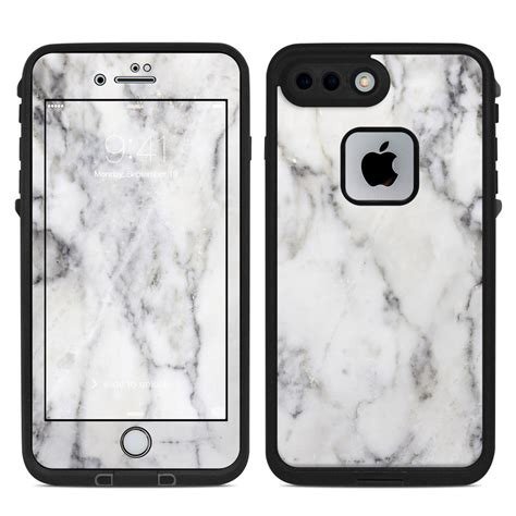 lifeproof iphone   fre case skin white marble