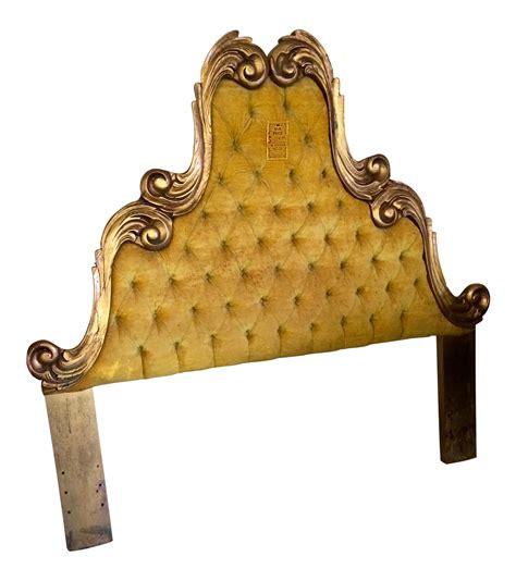 vintage velvet tufted italian regency fullqueen size headboard chairish