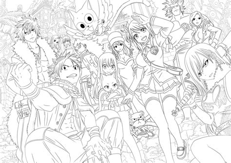 fairy tail lineart by tobeyd on deviantart