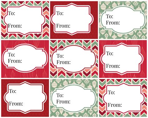 vintage christmas gift tags free printables refresh