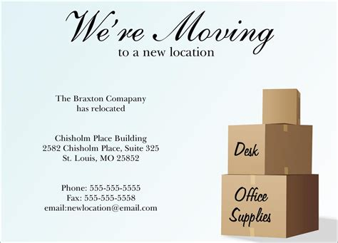 moving announcement template 9 best images of business moving postcard templates