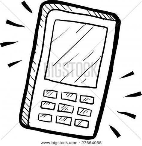 draw mobile mobile phone drawing stock vector stock photos bigstock