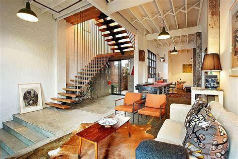 Vintage Home Decor touch of new york loft style warehouse conversion in