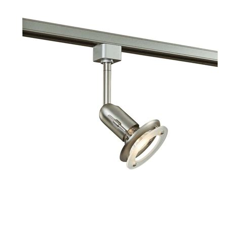 Track Light Fixture Hton Bay 1 Light Brushed Steel Linear Track Lighting Fixture Ec2300ba The Home Depot