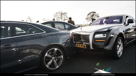 roll royce bmw bmw m5 crashes into rolls royce ghost in ede netherlands