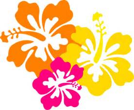 Hibiscus flowers 4 grouped clip art pictures