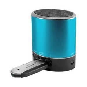 enceinte portable ices bleue avec port micro sd et usb