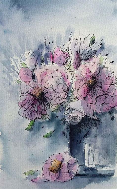 fiori acquarello 1000 images about fiori frutta in acquerello flowers