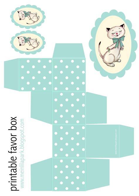 printable polka dot box  kitty tag ausdruckbare