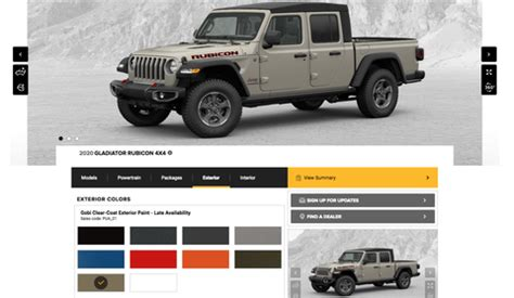 2020 jeep gladiator build your own tool – configure your