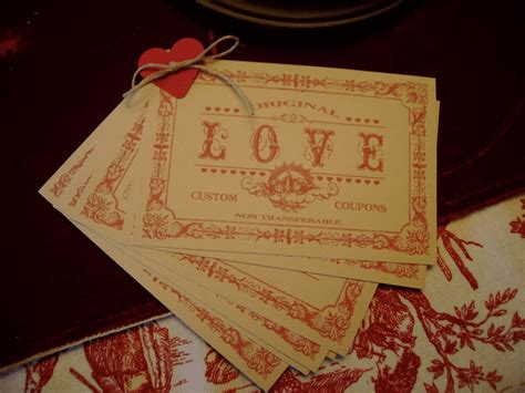 free printable vintage love coupons free printable love coupons and coupon templates